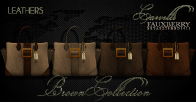 Fauxberry - Carvelli Leather Tote - Brown Collection